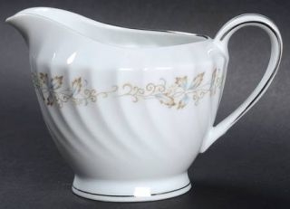 Fine China of Japan Jacqueline Creamer, Fine China Dinnerware   Gold & Blue Leav