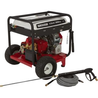 NorthStar Gas Cold Water Pressure Washer   4.5 GPM, 4000 PSI, Electric Start,