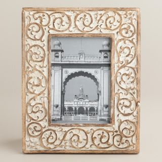 Whitewash Grace Swirl Frame   World Market
