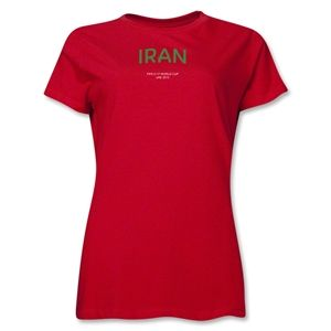 Iran 2013 FIFA U 17 World Cup UAE Womens T Shirt (Red)