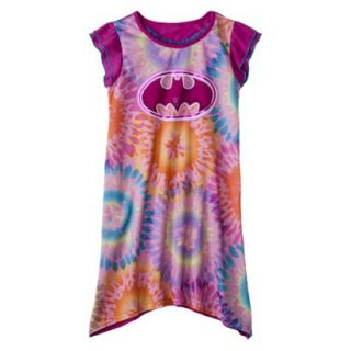Batgirl Girls Short Sleeve Nightgown   Purple L
