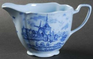 Johnson Brothers Tulip Time Blue (Blue Background) Creamer, Fine China Dinnerwar